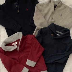 3T Ralph Lauren Polo, and Gap sweaters.